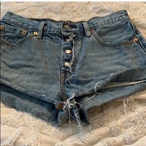 Levi's 501 highwaisted  jean shorts